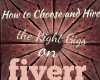 How To Choose and Hire the Right Gigs on Fiverr
